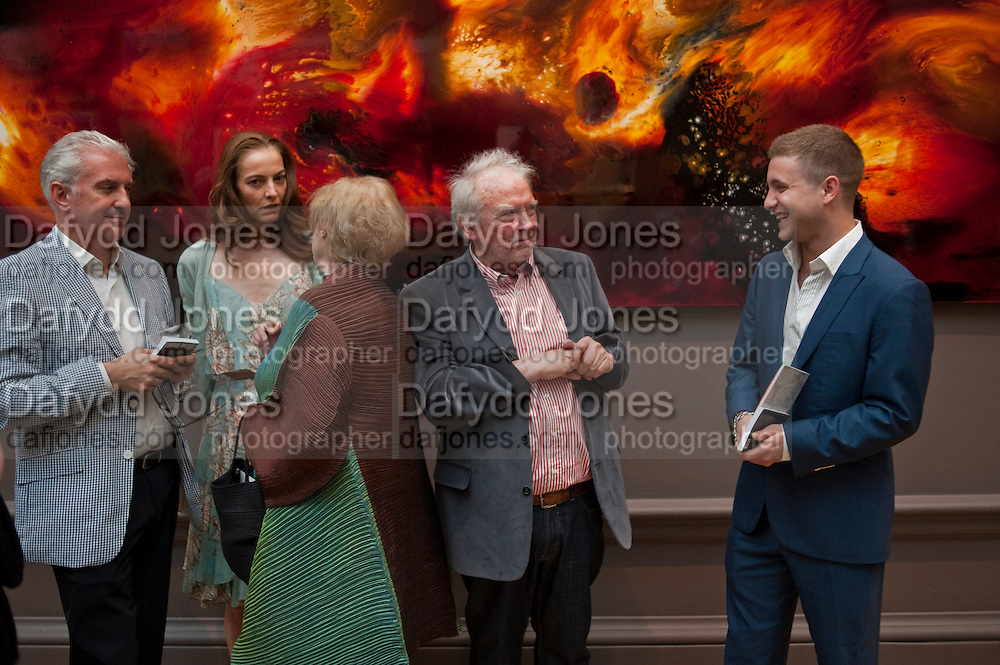 CATHERINE BAILEY; DAVID BAILEY; TY WOOD, Royal Academy of Arts Summer Exhibition Preview Party 2011. Royal Academy. Piccadilly. London. 2 June <br /> <br />  , -DO NOT ARCHIVE-© Copyright Photograph by Dafydd Jones. 248 Clapham Rd. London SW9 0PZ. Tel 0207 820 0771. www.dafjones.com.