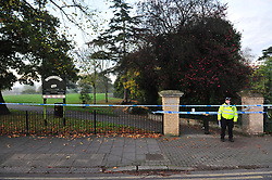 &copy; Licensed to London News Pictures.03/11/2017.<br /> PENGE, UK.<br /> A Murder investigation has been launched following a fatal stabbing in Penge at Betts Park, Anerley Road,<br /> Police were called at 19.22 hrs on Thursday 2 November to Betts Park,Penge near Bromley to reports of a male having been attacked. The victim was pronouced dead at the scene. The park is closed off by police.<br /> Photo credit: Grant Falvey/LNP
