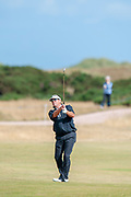 Brandt Jobe playes his second shot to the 10th during round 3 of the Seniors Open St Andrews, West Sands, Scotland on 28 July 2018. Picture by Malcolm Mackenzie.