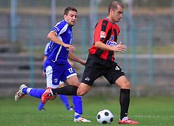 Vladimir Ostojic (4) of Primorje at 12th Round of PrvaLiga Telekom Slovenije between NK Primorje vs NK Nafta Lendava, on October 5, 2008, in Town stadium in Ajdovscina. Nafta won the match 2:1. (Photo by Vid Ponikvar / Sportal Images)