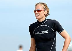 18-062005 BEACHVOLLEYBAL: NESSELANDE TOERNOOI: ROTTERDAM<br /> De zeer zonnige derde ronde van de Eredivisie Beach Volleyball op het strand aan de Zevenhuizerplas te Rotterdam-Nesselande leverde geen verrassingen op / <br /> Marrit Leenstra<br /> ©2005-WWW.FOTOHOOGENDOORN.NL
