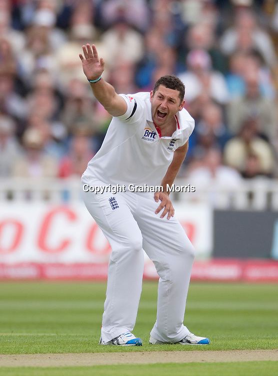 Bowler Tim Bresnan appeals during the third npower Test Match between England and India at Edgbaston, Birmingham.  Photo: Graham Morris (Tel: +44(0)20 8969 4192 Email: sales@cricketpix.com) 10/08/11
