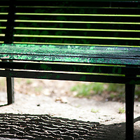 Detail of a park bench, Seville, Spain
