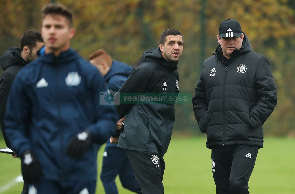 November 21, 2017 - Brussels, BELGIUM - Anderlecht's assistant coach Karim Belhocine and Anderlecht's head coach Hein Vanhaezebrouck pictured during a training of Belgian soccer team RSC Anderlecht, Tuesday 21 November 2017 in Brussels. Tomorrow Anderlecht is playing a game in the group stage (Group B) of the UEFA Champions League competition against German Bayern Munich. BELGA PHOTO VIRGINIE LEFOUR (Credit Image: © Virginie Lefour/Belga via ZUMA Press)