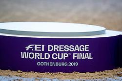 Podest/Podium<br /> Göteborg - Gothenburg Horse Show 2019 <br /> FEI Dressage World Cup™ Final II<br /> Grand Prix Freestyle/Kür<br /> Longines FEI Jumping World Cup™ Final and FEI Dressage World Cup™ Final<br /> 06. April 2019<br /> © www.sportfotos-lafrentz.de/Stefan Lafrentz