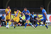 AFC Wimbledon defender & Captain Barry Fuller (2) during the Pre-Season Friendly match between AFC Wimbledon and Crystal Palace at the Cherry Red Records Stadium, Kingston, England on 27 July 2016. Photo by Stuart Butcher.