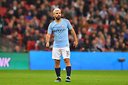 Sergio Aguero (10) of Manchester City during the Carabao Cup Final match between Chelsea and Manchester City at Wembley Stadium, London, England on 24 February 2019.