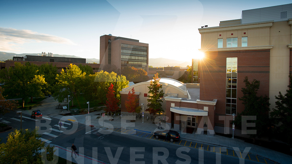 campus scene, campus sunrise, John Kelly photo