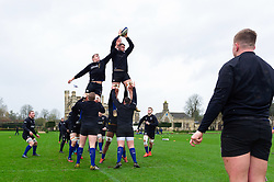 Jack Davies in action at a lineout - Mandatory byline: Patrick Khachfe/JMP - 07966 386802 - 16/01/2020 - RUGBY UNION - Farleigh House - Bath, England - Bath Rugby Training Session