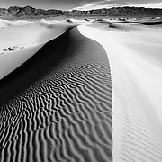 Dune Crest - Mesquite Dunes - Death Valley, CA - Infrared Black & White