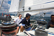 Racing onboard Alquemie, a C&C 37, at the Flip Flop Regatta.