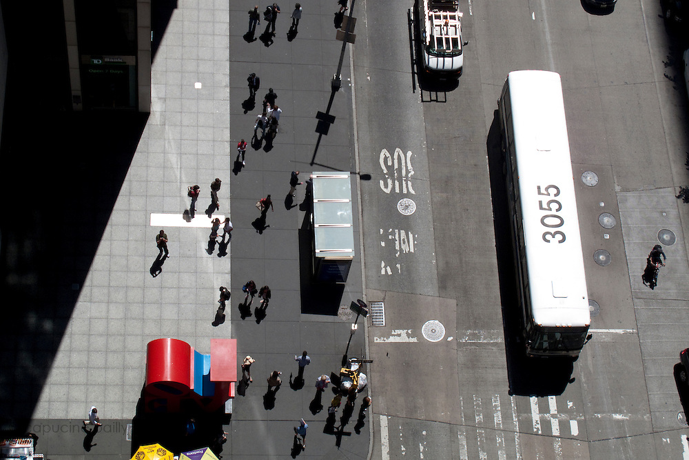 New York, New York. United States. May 7th 2010..View on 6th Avenue (Avenue of The Americas) between 54th and 55th Street.