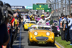 March 25, 2018 - Melbourne, Victoria, Australia - Motorsports: FIA Formula One World Championship 2018, Melbourne, Victoria : Motorsports: Formula 1 2018 Rolex  Australian Grand Prix,   #55 Carlos Sainz (ESP, Renault ), Parade  (Credit Image: © Hoch Zwei via ZUMA Wire)