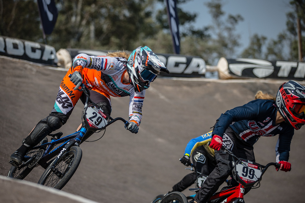 #29 (HUISMAN Ruby) NED at Round 10 of the 2019 UCI BMX Supercross World Cup in Santiago del Estero, Argentina