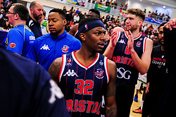 Jalan McCloud of Bristol Flyers after the final whistle of the match - Photo mandatory by-line: Ryan Hiscott/JMP - 13/04/2019 - BASKETBALL - SGS Wise Arena - Bristol, England - Bristol Flyers v Manchester Giants - British Basketball League Championship