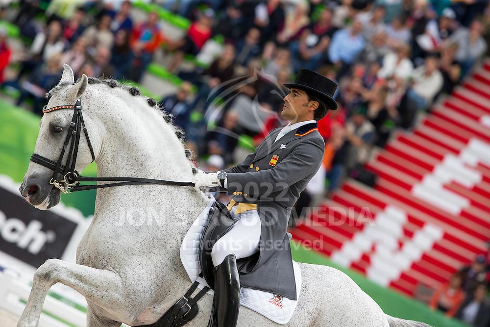 Jos&eacute; Antonio Garcia Mena, (ESP), Norte Lovera - Grand Prix Special Dressage - Alltech FEI World Equestrian Games&trade; 2014 - Normandy, France.<br /> &copy; Hippo Foto Team - Leanjo de Koster<br /> 25/06/14