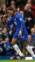 Photo: Alan Crowhurst.<br />Chelsea v Manchester City. The Barclays Premiership. 25/03/2006. Didier Drogba celebrates his first goal for Chelsea.