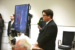 Assistant Public Defender Adam Goldberg appears in Broward Court as suspected school shooter Nikolas Cruz makes a video appearance before Judge Kim Theresa Mollica on Thursday, February 15, 2018. Cruz is facing 17 charges of premeditated murder in the mass shooting at Marjory Stoneman Douglas High School in Parkland, FL, USA. Photo by Susan Stocker/Sun Sentinel/TNS/ABACAPRESS.COM