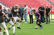 Johan Cruijff ArenA, Amsterdam. FC Kensington vs FC Coen en Sander. Op de foto: Jody Bernal
