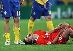 Yuri Zhirkov of Russia (18) during the UEFA EURO 2008 Group D soccer match between Sweden and Russia at Stadion Tivoli NEU, on June 18,2008, in Innsbruck, Austria. Russia won 2:0. (Photo by Vid Ponikvar / Sportal Images)