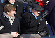 .Representative Patrick Kennedy and Senator Edward Kennedy at the swearing in ceremony during the Inauguration on January 20, 2009.  Photograph:  Dennis Brack