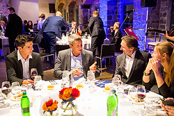 Mile Simeunovic, Mile Acimovic, Andrea Massi and Tina Maze at Official dinner ahead to the UEFA Futsal EURO 2018 Draw, on September 28, 2017 in Ljubljanski grad, Ljubljana, Slovenia. Photo by Vid Ponikvar / Sportida