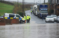 © Licensed to London News Pictures. 26/11/2012..Carlin How, England..A huge part of the main road through Carlin How in East Cleveland was flooded following another night of heavy rain that caused disruption in parts of East Cleveland and North Yorkshire...Photo credit : Ian Forsyth/LNP