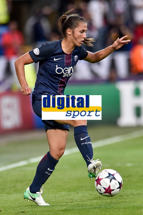 Corine Petit of Olympique Lyon during the UEFA Women's Champions League Final between Lyon Women and Paris Saint Germain Women at the Cardiff City Stadium, Cardiff, Wales on 1 June 2017. Photo by Giuseppe Maffia.<br /> <br /> <br /> Giuseppe Maffia/UK Sports Pics Ltd/Alterphotos