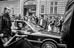 Bratislava, 12 January 1990<br /> First time in Slovakia as President of Czechoslovakia.