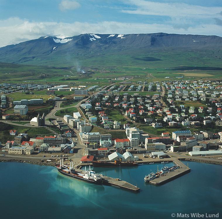 Akureyri 1969 - Mount Hlidarfjall in background