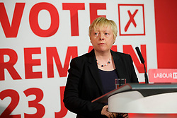 © Licensed to London News Pictures. 24/05/2016. London, UK. Shadow Business Secretary ANGELA EAGLE speaks to set out why women are better off in European Union at Church House in London on Tuesday, 24 May 2016. Photo credit: Tolga Akmen/LNP