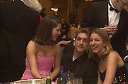 Antonia Wilson, James O'Connell and Sarah Kladeren. White Knights Ball. Grosvenor House. London. 5 January 2000. © Copyright Photograph by Dafydd Jones 66 Stockwell Park Rd. London SW9 0DA Tel 020 7733 0108 www.dafjones.com