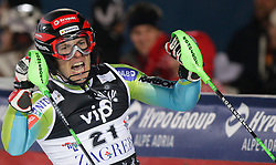 SKI ALPIN: Weltcup, Slalom, Herren, Zagreb, 06.01.2010<br /> Jubel von Mitja VALENCIC (SLO)<br /> Photo by Pixathlon / Sportida Photo Agency