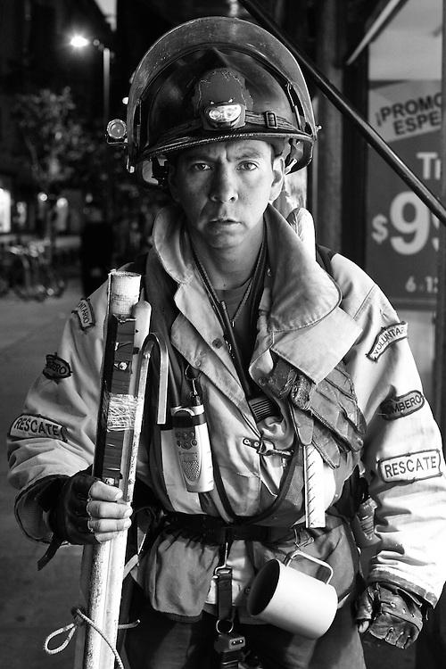 The rescuer, Mexico City