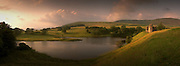 Panoramic view of Morton Caste on a summers evening