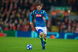 LIVERPOOL, ENGLAND - Tuesday, December 11, 2018: Napoli's Fabián Ruiz during the UEFA Champions League Group C match between Liverpool FC and SSC Napoli at Anfield. (Pic by David Rawcliffe/Propaganda)