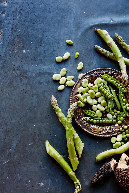 Fava Beans, Morel Mushrooms, Peas and Asparagus