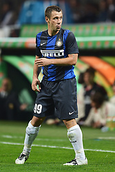 07.10.2012, Giuseppe Meazza Stadion, Mailand, ITA, Serie A, AC Mailand vs Inter Mailand, 7. Runde, im Bild 07.10.2012, Giuseppe Meazza Stadion, Mailand, ITA, Serie A, AC Mailand vs Inter Mailand, 7. Runde, im Bild Linguaccia di Antonio Cassano Inter // during the Italian Serie A 7th round match between AC Milan and Inter Milan at the Giuseppe Meazza Stadium, Milan, Italy on 2012/10/07. EXPA Pictures © 2012, PhotoCredit: EXPA/ Insidefoto/ Andrea Staccioli..***** ATTENTION - for AUT, SLO, CRO, SRB, SUI and SWE only *****