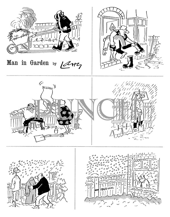 Man in Garden by Larry
