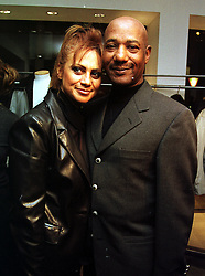 MR & MRS ERROLL BROWN he is the singer, at a party in London on 3rd November 1999.MYO 12