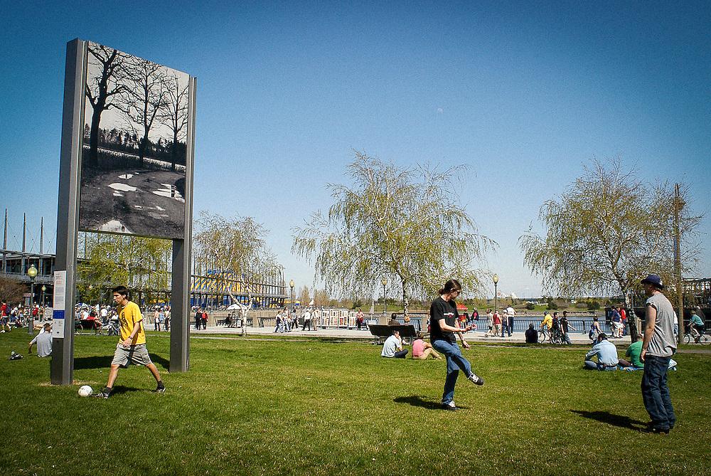 Art public au vieux port de Montréal