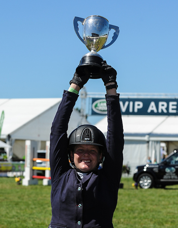 Ally Carson rides Tony The Pony to win the Pony of the Year, Horse of the Year 2016, Hastings Show Grounds, Hastings, Hawkes Bay, Saturday, March 05, 2016. Credit: SNPA / Sarah Lord
