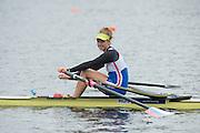 Hamburg. GERMANY.   Ekaterina PITIRIMOVA. Saturday Morning, Semi Finals C/D  at the 2014 FISA Junior World rowing. Championships.  10:18:55  Saturday  09/08/2014  [Mandatory Credit; Peter Spurrier/Intersport-images] 2014. Empacher. Hamburg.