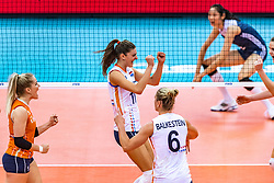 16-10-2018 JPN: World Championship Volleyball Women day 17, Nagoya<br /> Netherlands - China 1-3 / Kirsten Knip #1 of Netherlands, Anne Buijs #11 of Netherlands