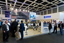 Competitor Stands as Hitachi Rail exhibit at InnoTrans 2018 - Rogan/JMP - 20/09/2018 - PR - Messe Berlin - Berlin, Germany.