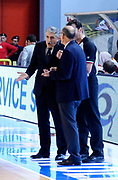 DESCRIZIONE : Cremona Lega A 2012-13 Vanoli Cremona Acea Roma<br /> GIOCATORE : Coach Marco Calvani Arbitro e Coach Attilio Caja<br /> SQUADRA : Acea Roma<br /> EVENTO : Campionato Lega A 2012-2013<br /> GARA : Vanoli Cremona Acea Roma<br /> DATA : 04/11/2012<br /> CATEGORIA : Coach Fair Play<br /> SPORT : Pallacanestro<br /> AUTORE : Agenzia Ciamillo-Castoria/A.Giberti<br /> Galleria : Lega Basket A 2012-2013<br /> Fotonotizia : Cremona Lega A 2012-13 Vanoli Cremona Acea Roma<br /> Predefinita :