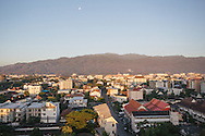 sunrise city view and mountains in chiang mai thailand