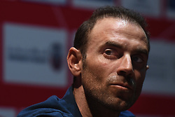 February 23, 2019 - Abu Dhabi, United Arab Emirates - Alejandro Valverde of Spain and Movistar Team, during Top Riders press conference inside the Louvre Abu Dhabi Museum..On Saturday, February 23, 2019, Abu Dhabi, United Arab Emirates. (Credit Image: © Artur Widak/NurPhoto via ZUMA Press)