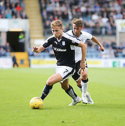 Dundee's Greg Stewart goes past St Johnstone&rsquo;s Chris Millar - Dundee v St Johnstone at Dens Park <br /> - Ladbrokes Premiership<br /> <br />  - &copy; David Young - www.davidyoungphoto.co.uk - email: davidyoungphoto@gmail.com