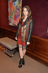 SAI BENNETT at the opening of the exhibition 'My Mother Was A Reeler' at Etro, 43 Old Bond Street, London on 5th October 2016.